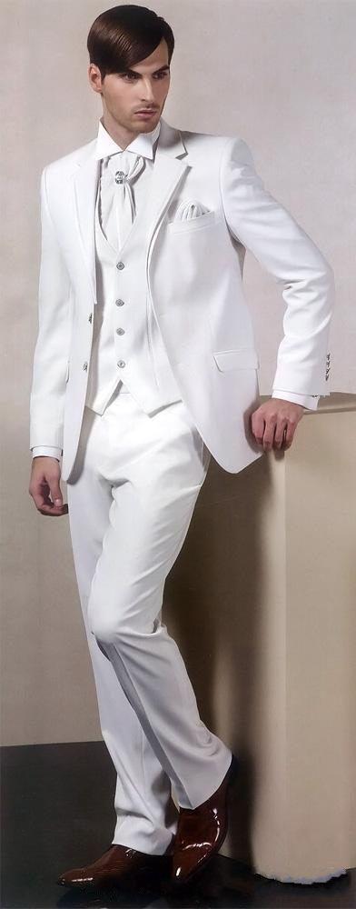 Yeni moda beyaz en iyi adam damat gelinlik, Mükemmel Erkekler İş Etkinliği Takım Parti Balo Suit (ceket + pantolon + yelek + kravat) NO: 249