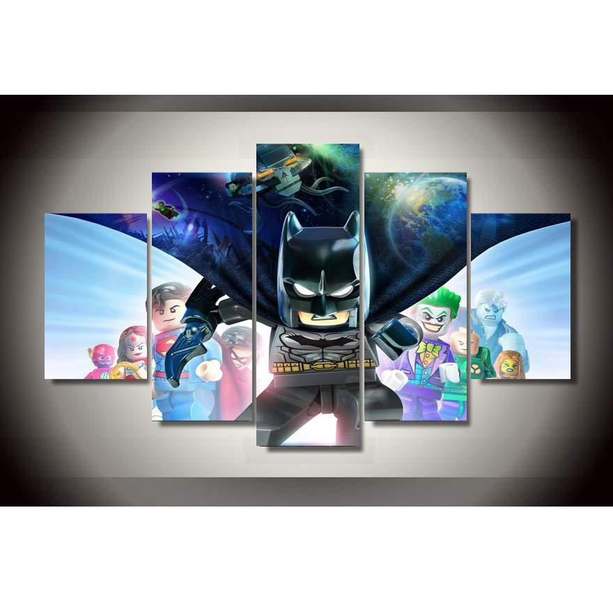 Batman Beyond 5 adet HD Kanvas Baskı Yeni Ev Dekorasyon Sanat Resim / (Çerçevesiz / Çerçeveli)