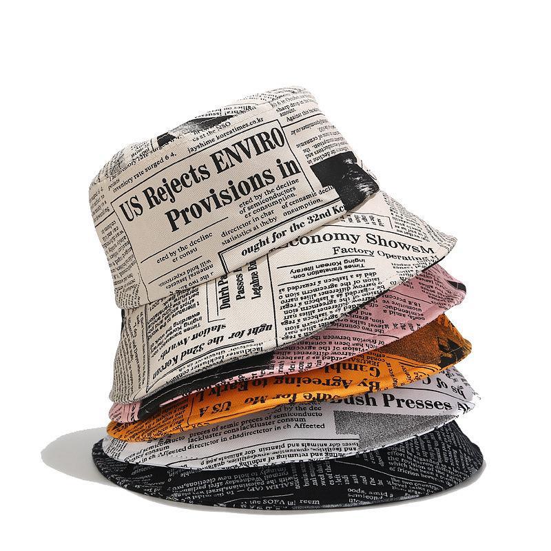 دلو قبعة الرجال جريدة طباعة كاب الصياد للمرأة الحماية من الشمس قبعات لربيع وصيف الصيد قبعات 2020 جديد وصول