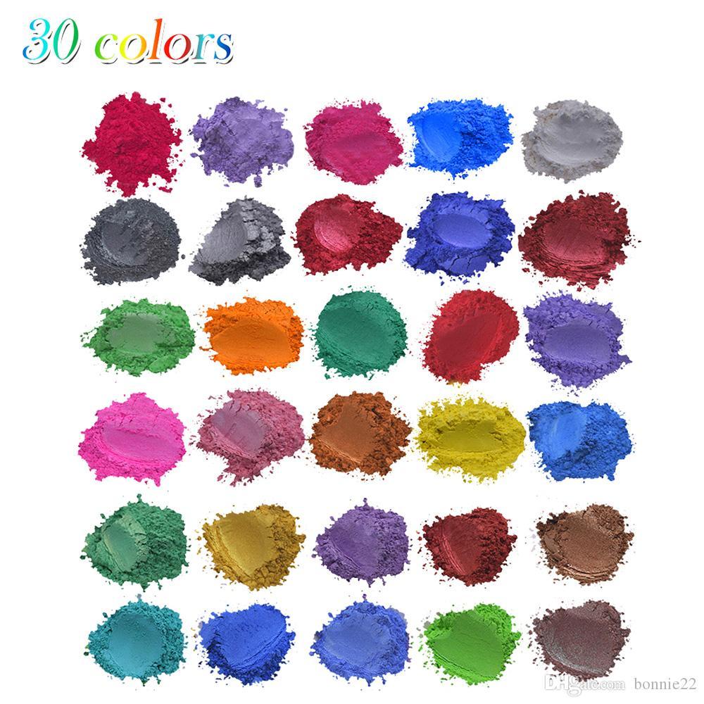 50g mor renkli İnci Tozu tırnak parıltı için makyaj yukarı, pek çok renk mika tozu, yanar döner Toz Kozmetik Pigment Toptan