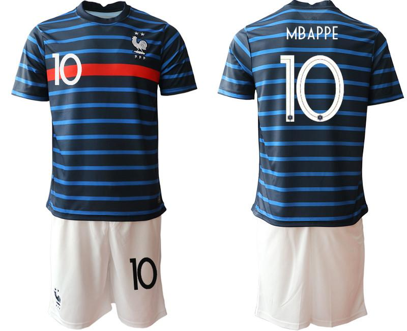TOP France 2020 Soccer Jersey Home Kit #6 POGBA #7 GRIEZMANN European Cup Football Jersey Uniforms Men and Kids Football clothes Kits