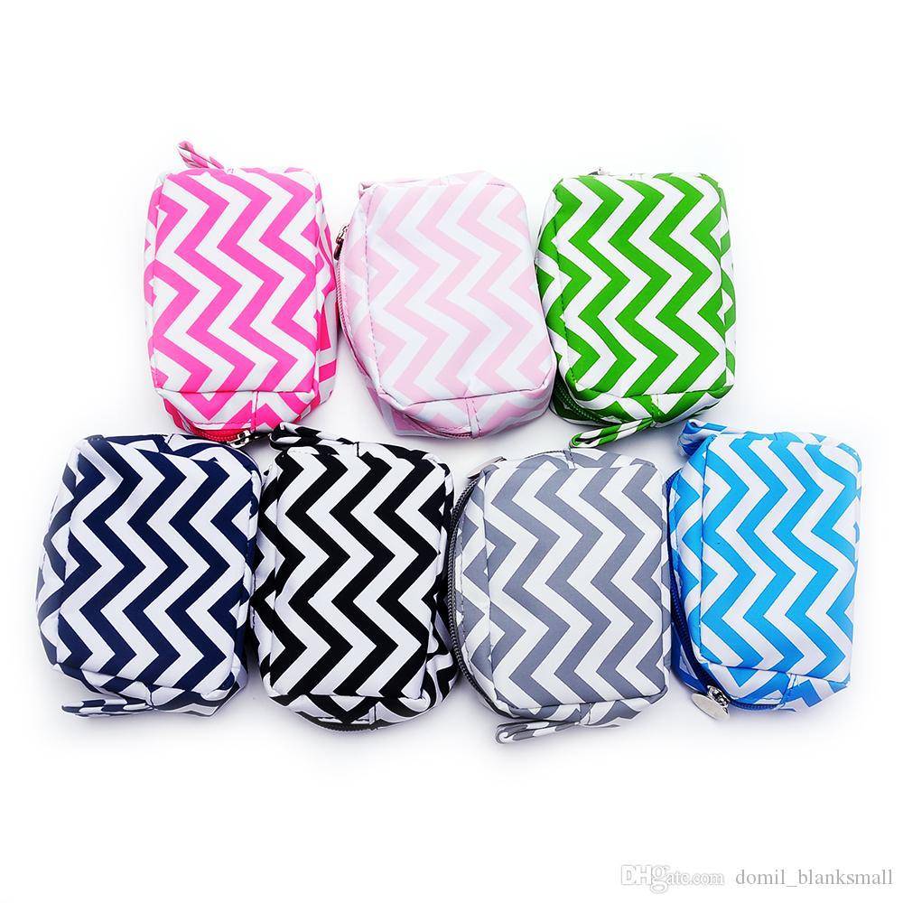 Красоты мешок Оптовая Шеврон косметичка небольшого размера из микрофибры макияж сумка для путешествий туалетных чехол для девочки Застежка-дом-108068