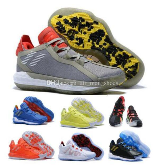 Best Dame 6 Mens Basketball Shoes Sneakers Solar Grey
