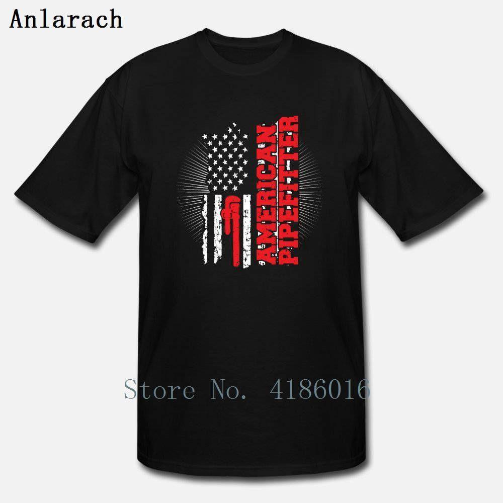Equipo de la vendimia americana Pipefitter camiseta nuevo estilo de otoño del resorte S-5XL algodón Camisa personalizada linda