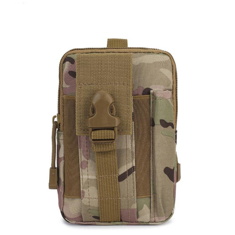 Cintura táctica de Molle bolsillo bolsa del cinturón Senderismo campo Teléfono Bolsas corriente de la bolsa con soporte para teléfono celular