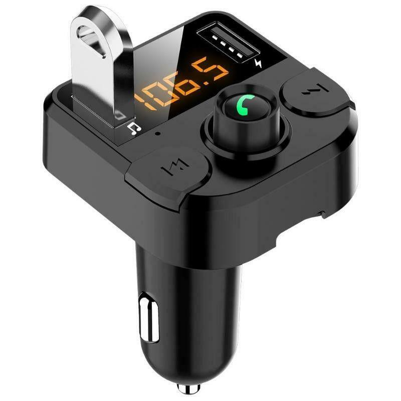 USB شاحن سيارة FM اللاسلكي متوافق الارسال TF بطاقة سيارة كيت يدوي استقبال الصوت مشغل الموسيقى 2 منفذ USB تهمة في السيارة