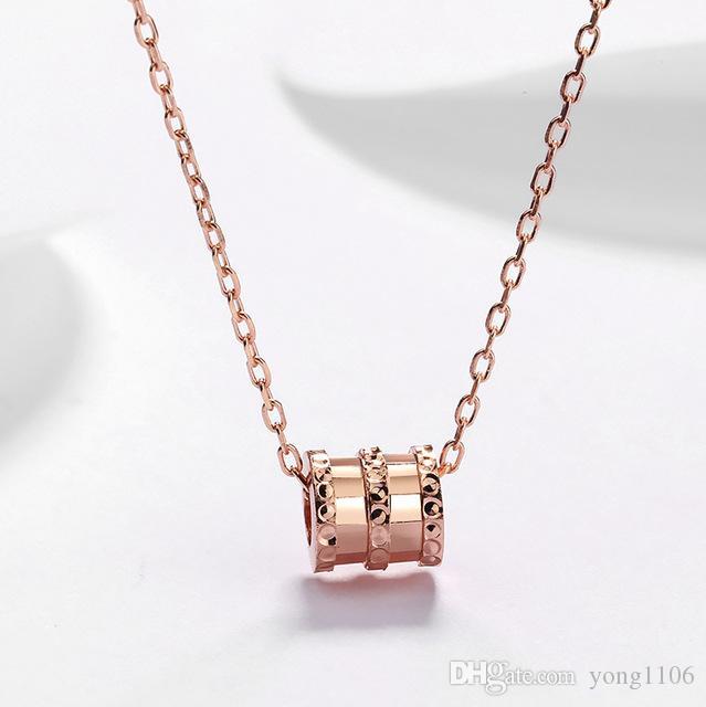 Nuevo diseñador de moda de lujo Xiao Hombre cintura Collar dama moda hip hop personalidad Plata de ley S925 plateado 18K Colgante de oro rosa clavi