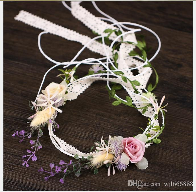 Laço da flor Sennu tie hairband 2019 cocar de noiva nupcial