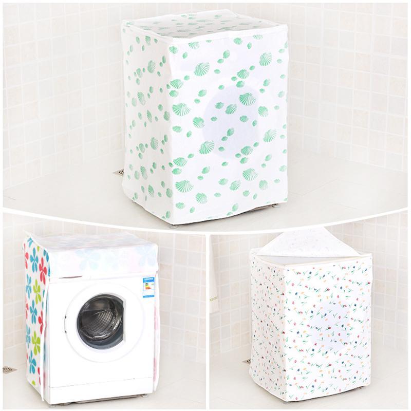 1 Pcs chargement frontal lave-linge PVC anti-poussière couverture lavage Boîtier étanche machine de protection Veste en tissu couleur aléatoire