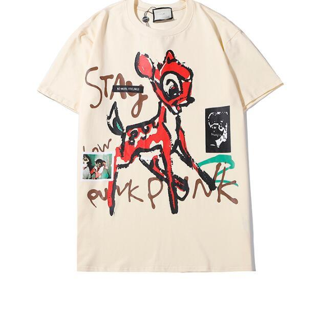 02Mens Дизайнер Футболка Мужчины Женщина Streetwear Повседневного High Street тенниска хлопок Пар Топ Тис футболка Supremo
