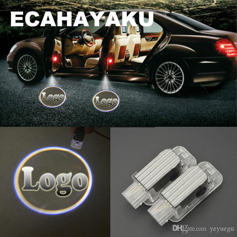 2Pcs Car styling Car door lights logo projector welcome led lamp ghost shadow lights for Mercedes-Benz BMW Toyota Audi