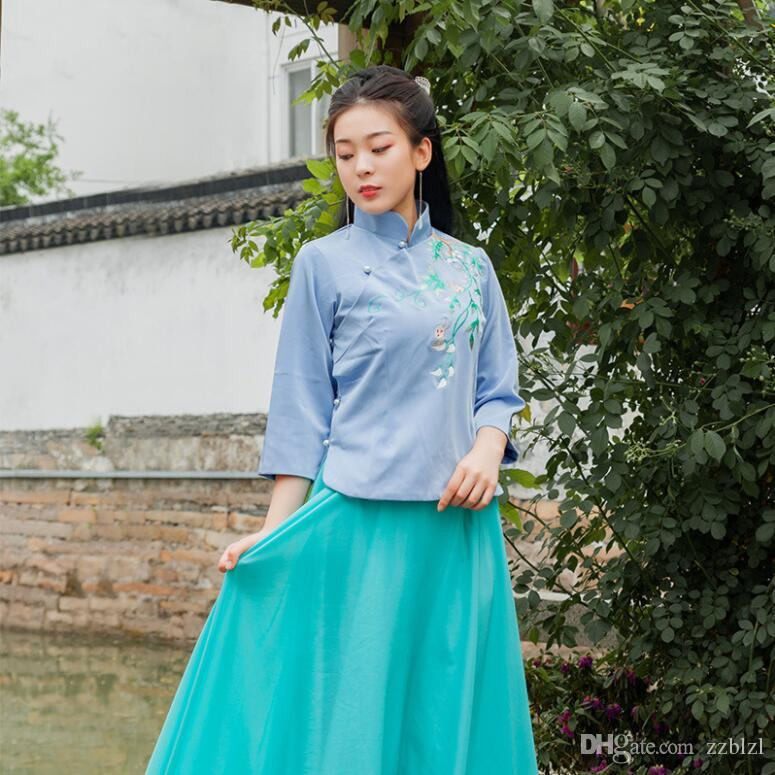 4 мая молодежь героиня платье для подружек невесты повседневная аутентичные традиционные эрху guzheng народная музыка выступление элегантный повседневная аутентичные
