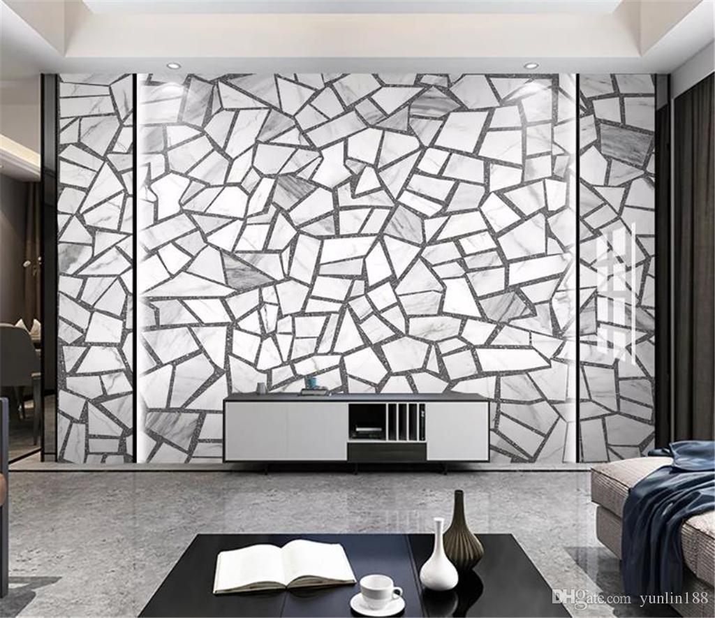 2019 New American Vintage Wallpaper Nordic Simple Cement Brick Ceramic Tile Terrazzo Floor Tiles Wall Decoration Wall Paper Free Wallpaper Desktop
