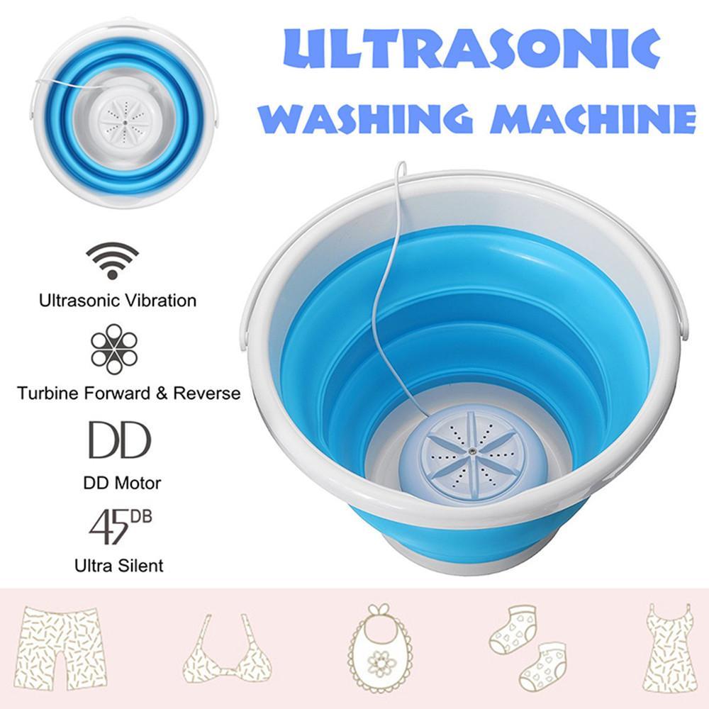 Mini ultrasónica Turbina Lavadora plegable Cubo USB de ropa de lavandería Limpiador para el recorrido de Inicio Rápido dormitorios limpios
