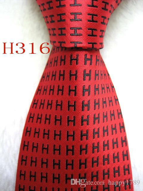 H316 # 100% Jacquard De Seda Artesanal Gravata Gravata Dos Homens