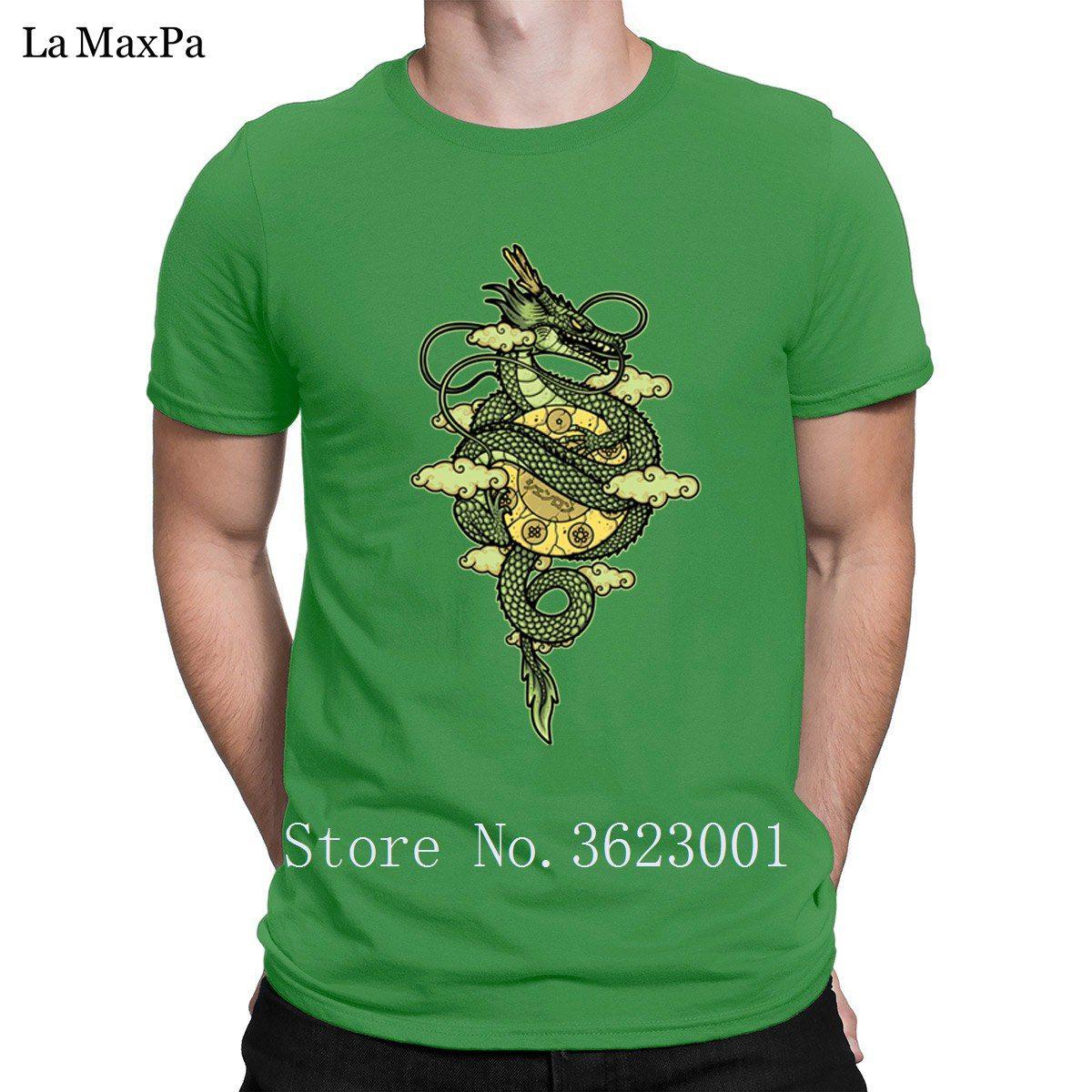 Conception de loisirs T-shirt homme dragon Dieu T-shirt couleur unie hommes T-shirt T-shirt unique coton cadeau