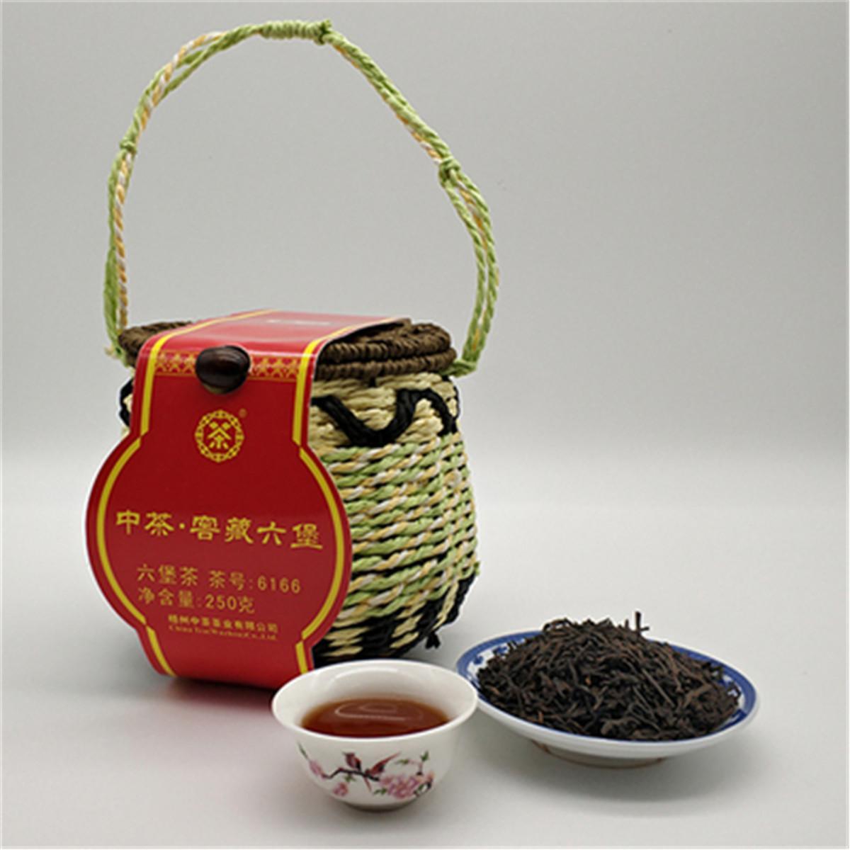 Promoção 250g preto orgânico Chinese Tea premium Liu Bao Saúde Aged chá escuro Na Cesta New Cozido Green Food Tea