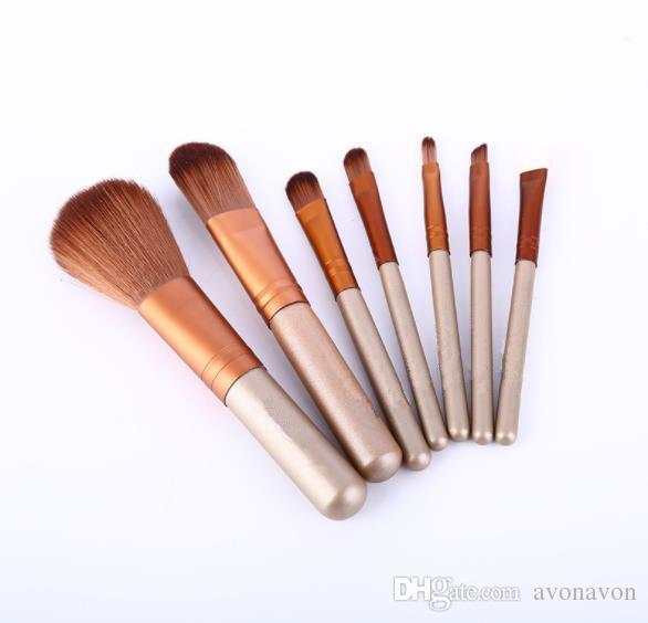 TOP Brand BRUSH KIT Nake Makeup 7pcs Nake Makeup Brushes Sets Beauty Make Up pinceaux de maquillage With Metal Box Packing CZ101