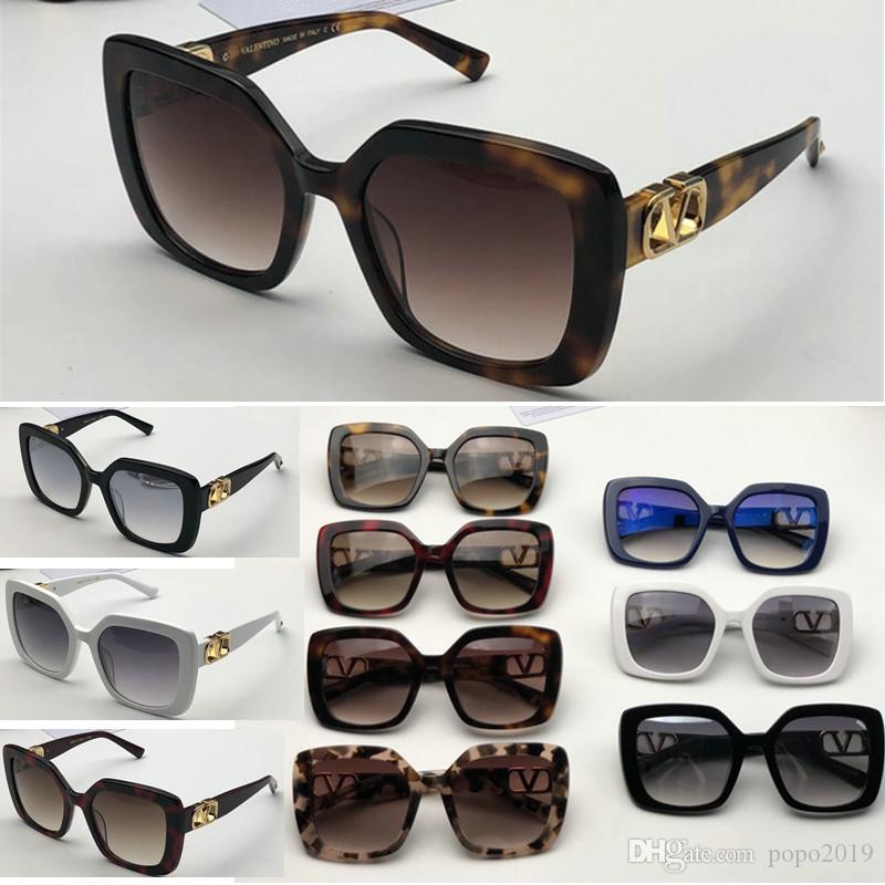 مصمم للجنسين العلامة التجارية ساحة النظارات الشمسية الرجال النساء خمر فاخرة ساحة نظارات شمسية لأنثى ذكر إيطاليا ظلال UV400 VA4065 مع مربع الأعلى