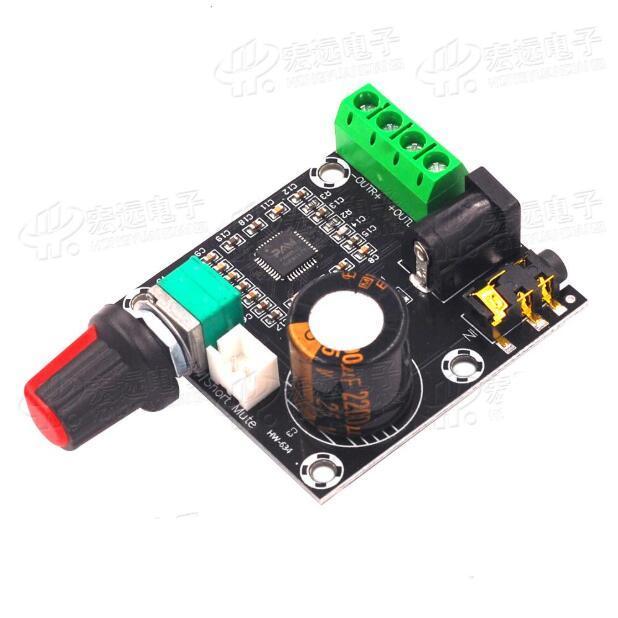 2pcs PAM8610 tablero de doble canal amplificador de potencia de 12V HD / tarjeta de amplificación de potencia digital pura / 15W * 2 de alta potencia módulo de amplificación