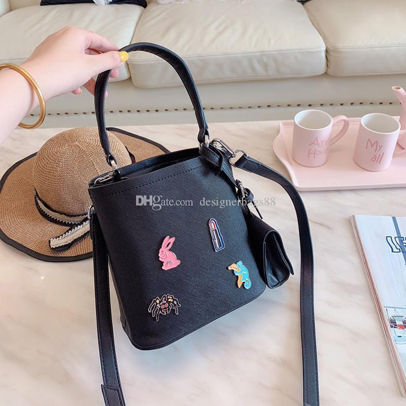 Mão e designer de couro palm bolsas de luxo bolsas Balde de designer saco crossbody tote saco sacos de lazer único mensageiro sacos de compra