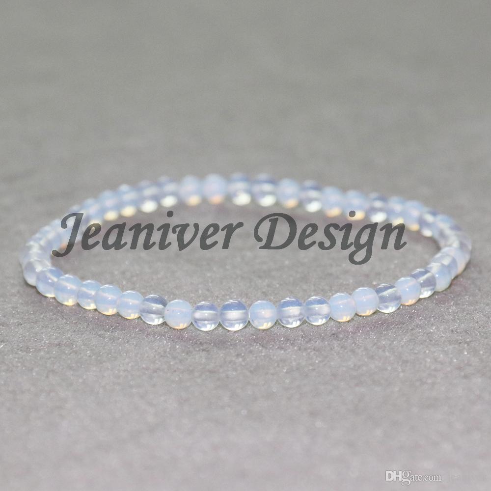 Jeaniver 2019 Bracelet Design Vintage Yogi 4 mm Opale Pierre Naturelle Perles Bracelet Bracelet Mini Gem Energy Bracelet
