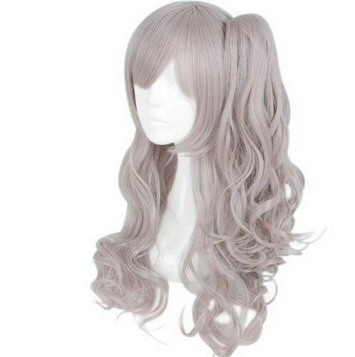 Girls' Frontline Cosplay Hair Wig Grey pink Pigtail Girl Game