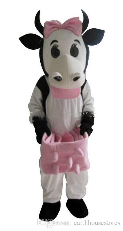 2019 neue Kuh-Maskottchen-Kleidungskarikatur, körperliche Fotos der Fabrik, Qualität garantiert, Qualität