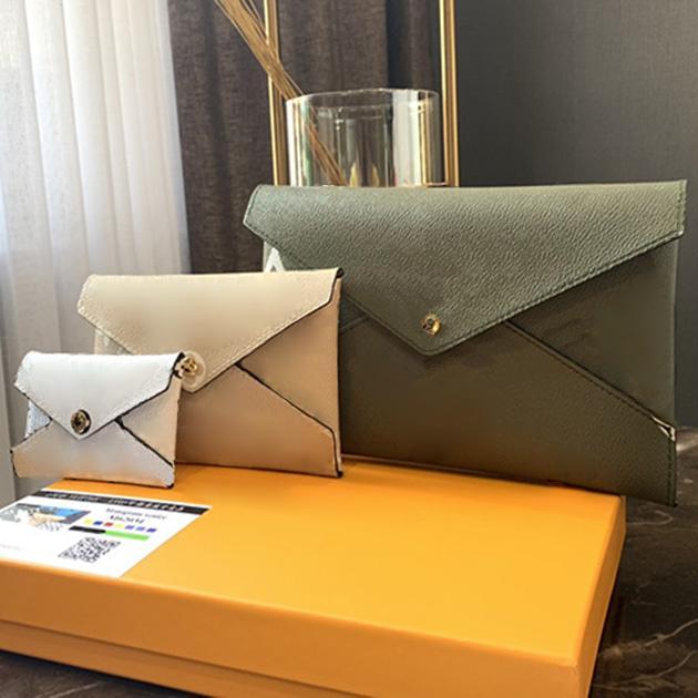 3 قطع مزيج مصمم محفظة أعلى جودة مصمم محفظة المرأة مخلب حقيبة محفظة حقائب مع مربع وكيس الغبار L190422-1
