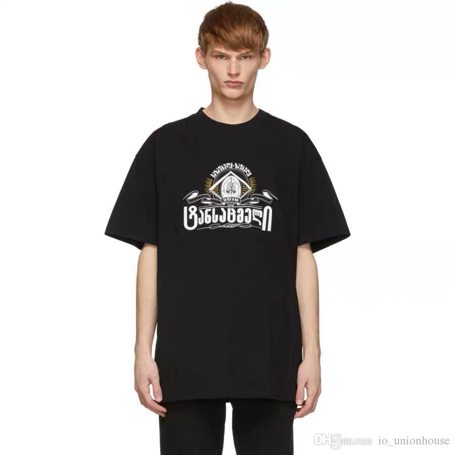 Vetements 19ss secret socie TY Baskılı Tee Lüks Vintage Katı Renk Kısa Kollu Erkek Kadın Casual Hip Hop Sokak Kaykay T-shirt