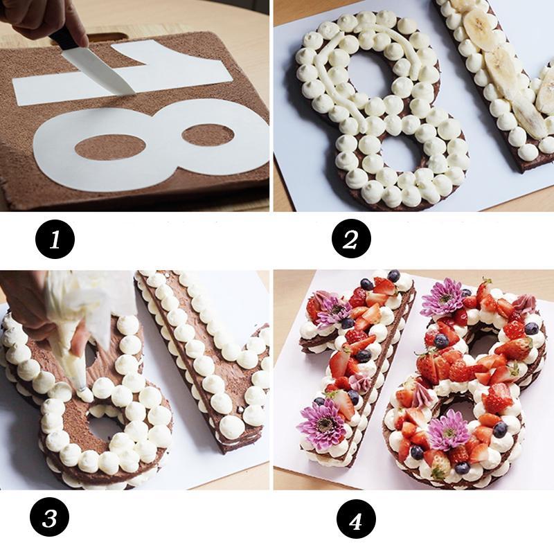 9pcs números de formulário pode escolher Bolo Selo da festa de casamento do cortador Acryl Detalhes Digital Stamper cortador Diy Mold presente