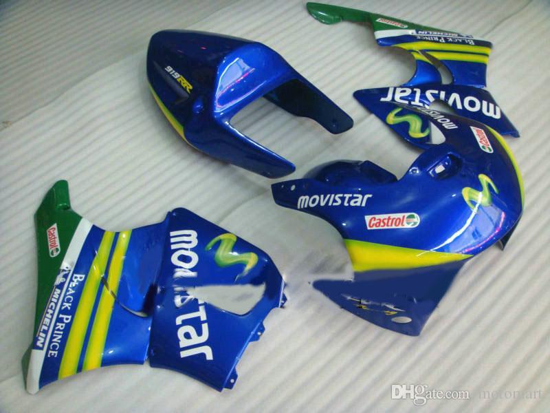 Movistar azul kit de carenagem para HONDA CBR900RR 919 98 99 CBR 900RR 1998 1999 CBR 900 RR carenagem Carenagem carroçaria + 7gifts