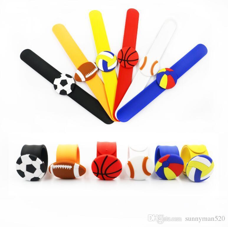 New Fashion Multicolor Balls Styles Silicone Slap Snap Wrap Bracelet Wristband Jewelry Kids Flexible Gift Free Shipping