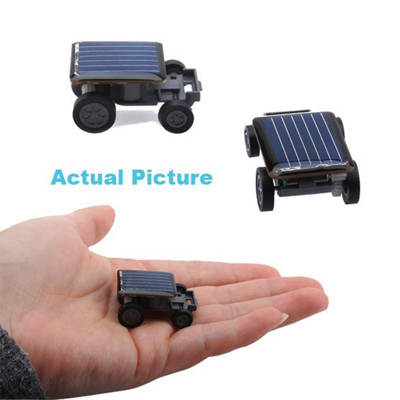 Komik Mini çocuklar için Yenilik Oyuncaklar Güneş Enerjisi Powered Mini Araç hamamböceği Güç Robot Böcek Çekirge eğitim gadget Oyuncak Seti