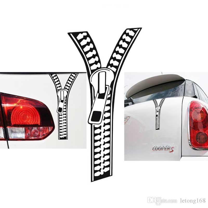 Personnalité créative Zipper modifiée voiture Autocollants moto Autocollants Tail Body