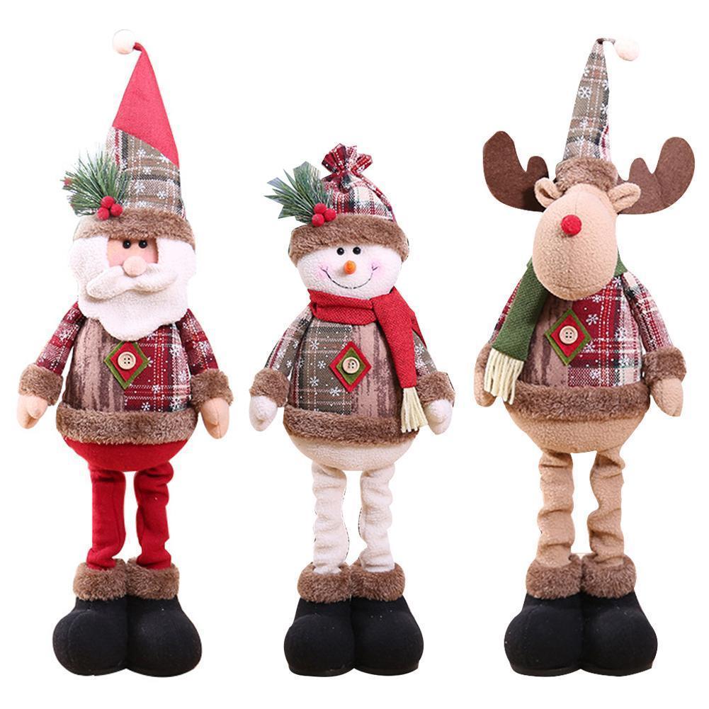 Рождественские украшения Рождественские куклы украшения Дерево Innovative Санта снеговика окна