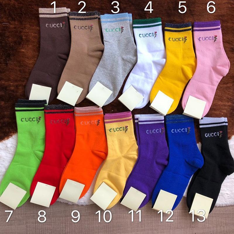 13 Renkler Basit Stil Pamuk Kadınlar Çorap Moda Şeker Renk Kızlar Çorap Açık Spor Hip Hop Çorap