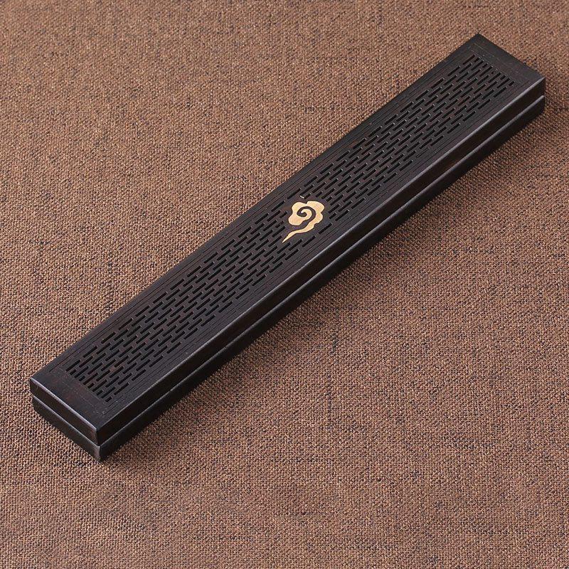 1pcsblack Holzhalter Weihrauch Coffin Brenner Holz Räuchergefäss Box Aromatherapie Censer Für Home Office