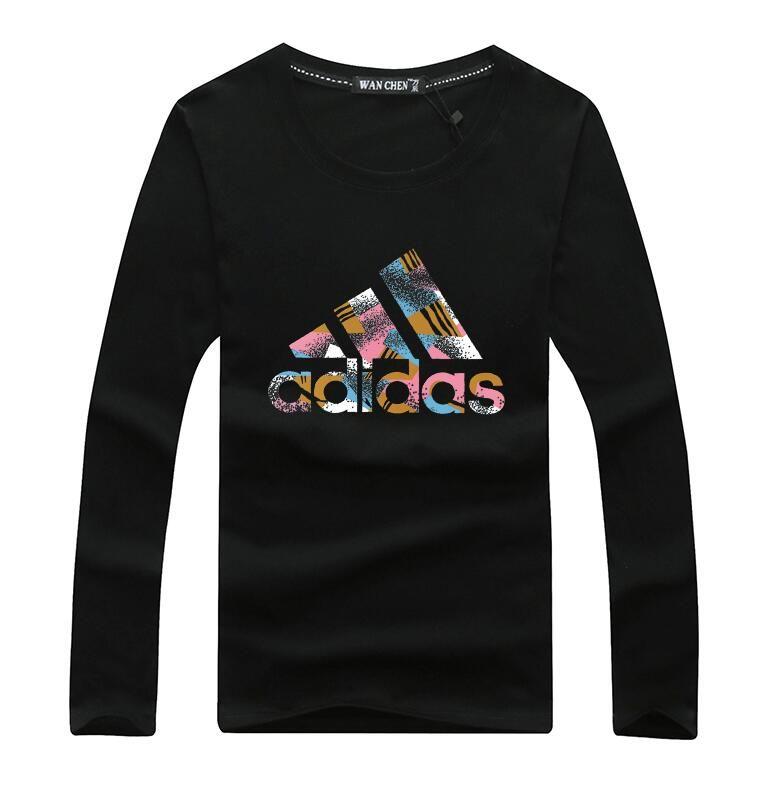 de manga comprida T-shirt dos homens e das mulheres em torno do pescoço fino ocasional tendência juventude camisa Outono camisa top-coreano
