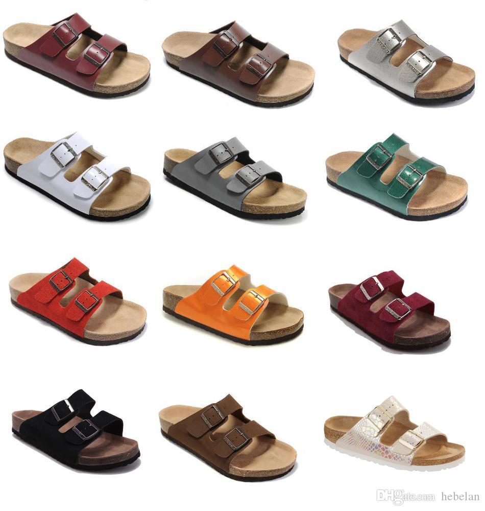 2020 новый цвет горячий бренд Аризона мужчины сандалии на плоской подошве женская мода летние пляжи Повседневная обувь с пряжкой обувь из натуральной кожи оптом