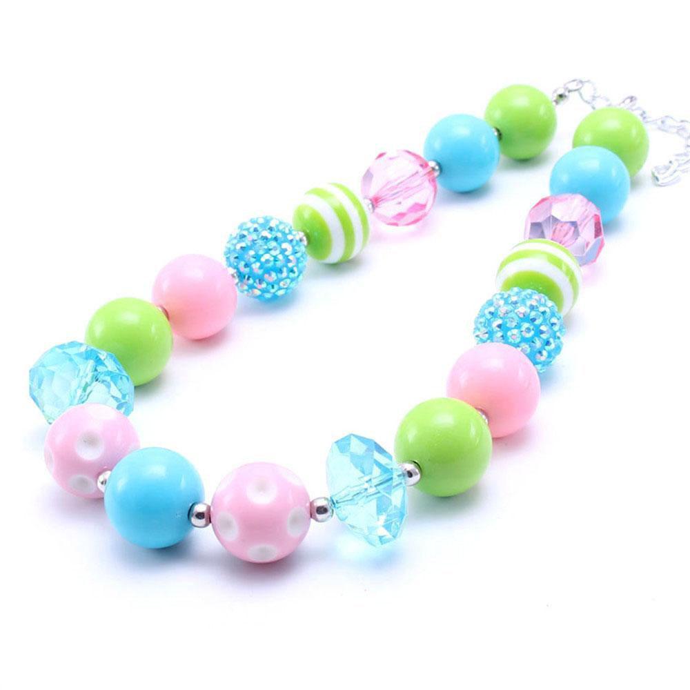 Довольно Весна Цвет малыша младенца Коренастый ожерелье Halloween Малыши девушки Bubblegum бисера Коренастый ожерелье ювелирные изделия подарок для детей