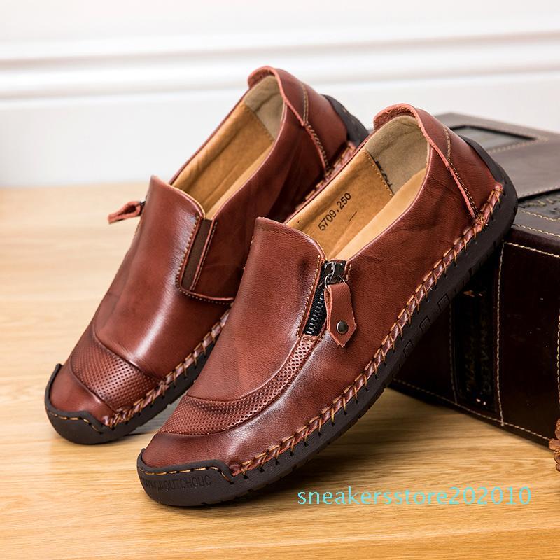 Tembel Ayakkabı Zapatos Hombre S10 Kayma için 2020 Erkekler loafer'lar hakiki deri Rahat Erkek Ayakkabı Ayakkabı Flats