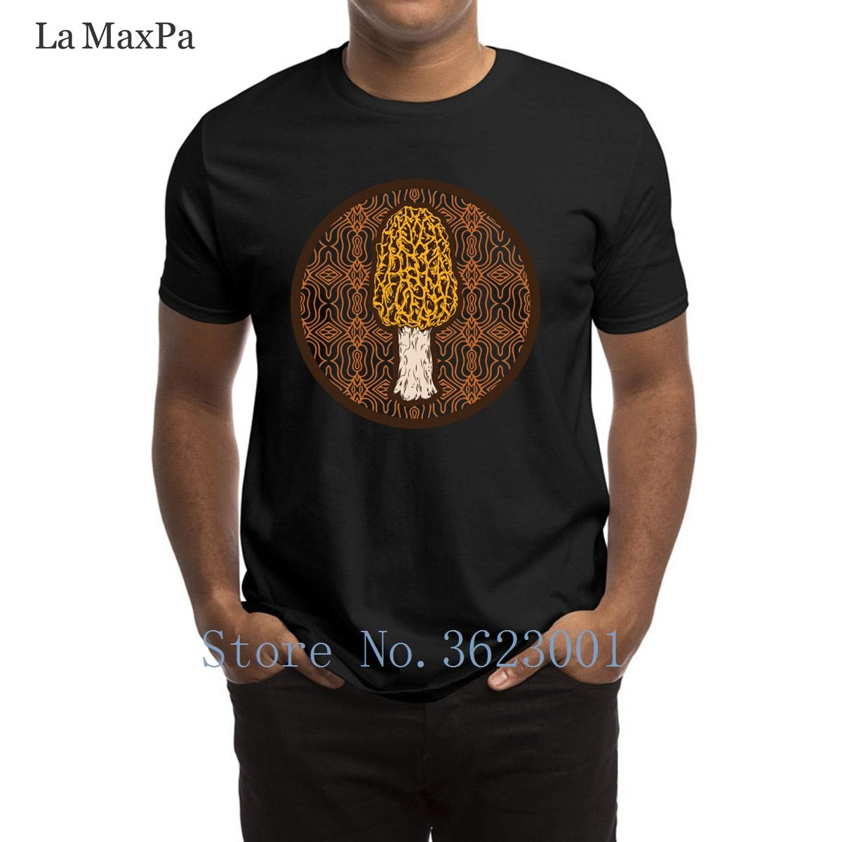 Morchella T Shirt T-shirt stampata di svago degli uomini per gli uomini Trendy Costume Tee Shirt Umorismo Plus Size 3XL maglietta per gli uomini Hip Hop