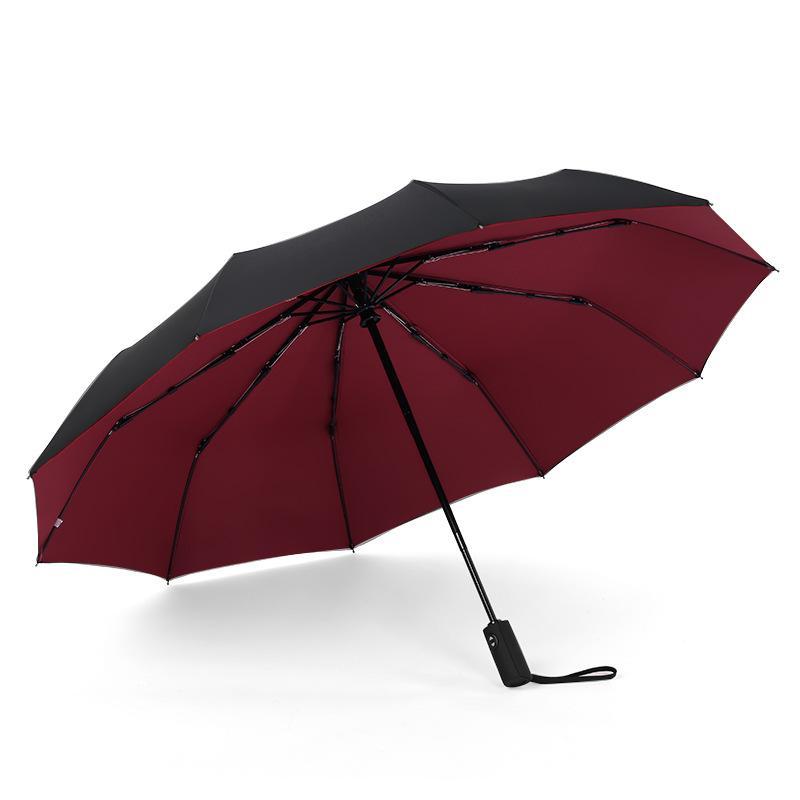 2020New coupe-vent double pliant automatique Parapluie Femme Homme Dix os de voitures Grandes entreprises pluie femmes Umbrella