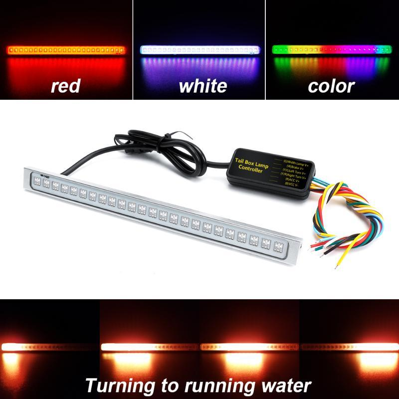 Universal 12V 24 SMD LED Car License Plate Light Auto Waterproof Exterior 1200Lm Follow Colorfull Lamp Decal Lighting