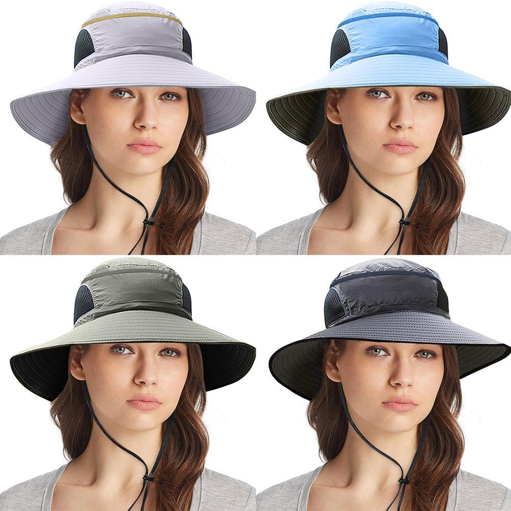 Kadınlar Erkekler Katlanabilir Şapka Nefes Mesh Sunhat Taşınabilir Yaz Balıkçılık Açık Şapka H7JP