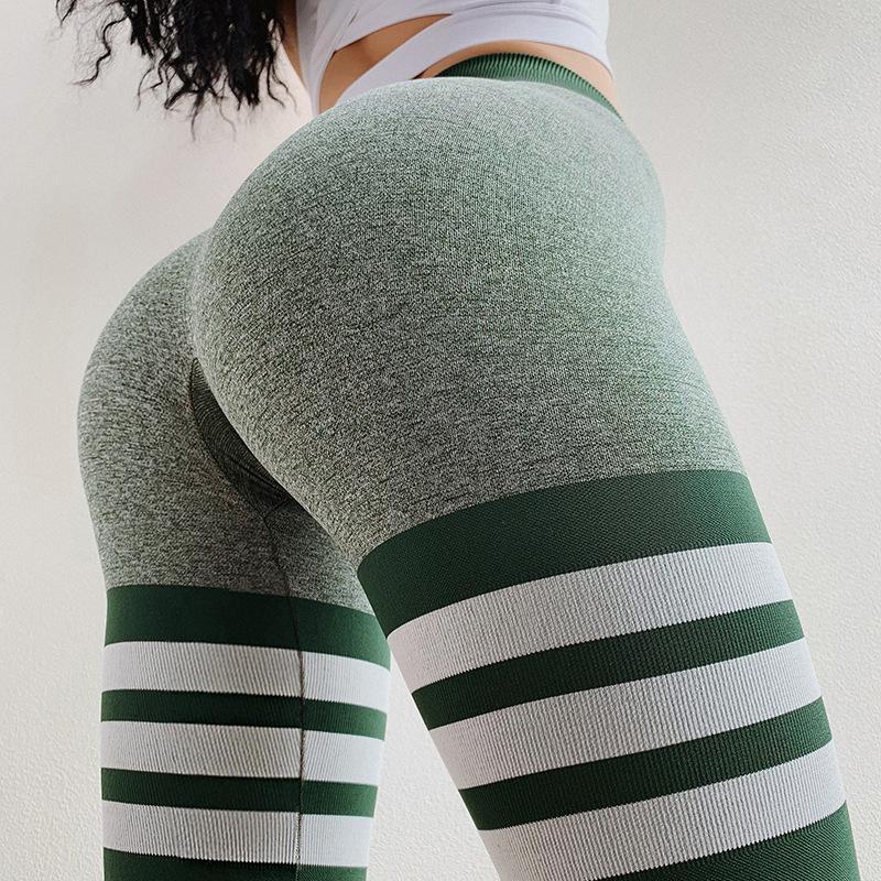 2020 Cross-Border europei e americani sexy Peach Hip Pantaloni a vita alta di yoga delle donne ha lavorato a maglia respirabile senza giunte Addome Pantaloni Yoga fitness