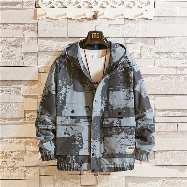Marken-Qualitäts-lange Hülse 2019 neuer Entwerfer Mens Fashion lose Windjacke und natürliche Farben für Sport-beiläufige Mäntel mit M-4XL B101301Q