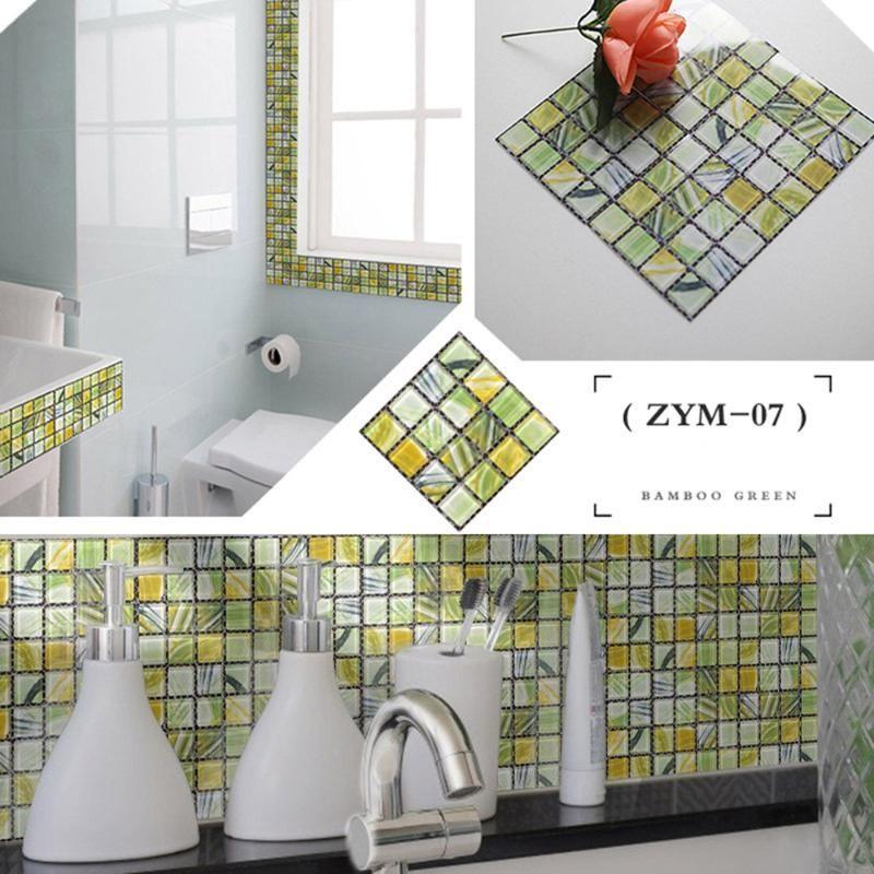 20pc Kitchen Tile Stickers Bathroom Mosaic Sticker Selfadhesive Home Wall Decor