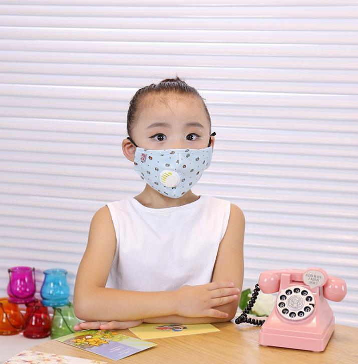 Mask Cotton Insert Children's With Mask Breathing Valve Pm2.5 Anti-haze Activated Carbon Protective Cartoon Mask 4Z5Y1